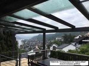 Terrassendächer zum Aufschieben